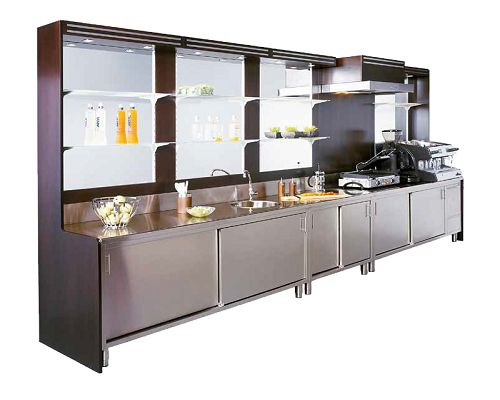 Mafirol Back Bar Shelving and Display 1050mm Wide - BOLERO1000